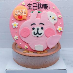 卡娜赫拉生日蛋糕推薦,粉紅兔兔P助造型蛋糕作品分享