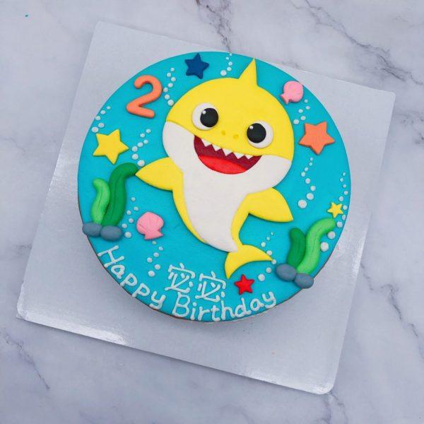 鯊魚寶寶卡通生日蛋糕推薦,BABY SHARK造型蛋糕宅配