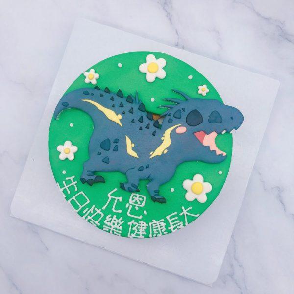 Q版恐龍造型蛋糕推薦,卡通恐龍生日蛋糕宅配