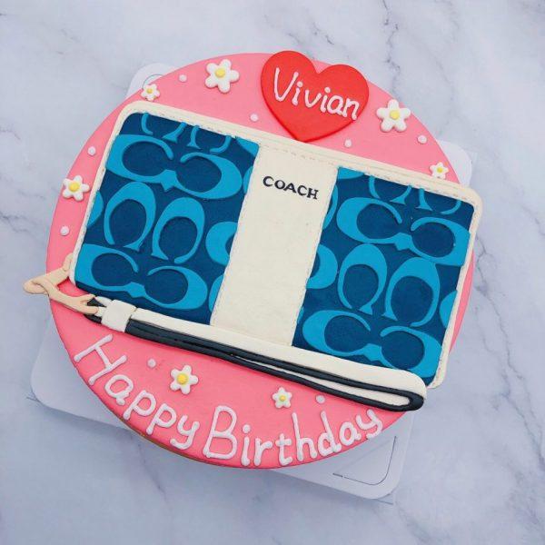 錢包造型蛋糕推薦,COACHF包生日蛋糕宅配