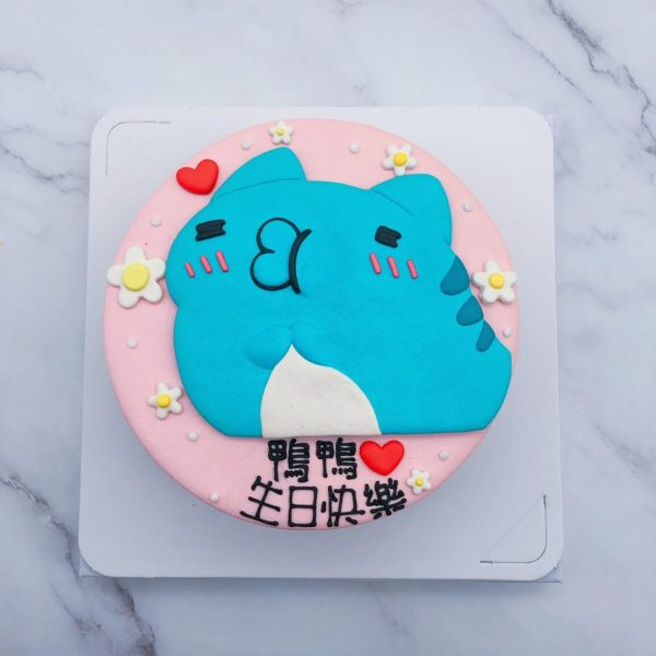 咖波嘟嘴造型蛋糕作品分享,Capoo生日蛋糕宅配分享