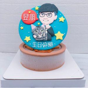 Q版人像生日蛋糕推薦,抱貓咪造型蛋糕宅配分享