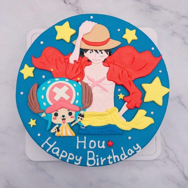 海賊王魯夫生日蛋糕推薦,喬巴造型蛋糕宅配