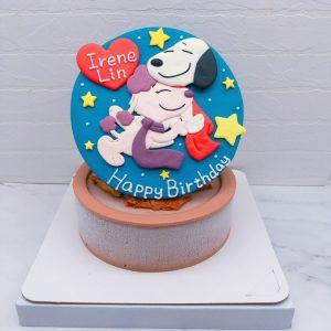 史努比生日蛋糕推薦,卡通造型蛋糕作品分享