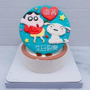 蠟筆小新生日蛋糕推薦,小白卡通造型蛋糕宅配