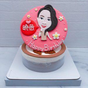 Q版人像生日蛋糕推薦,女生照片造型蛋糕宅配分享