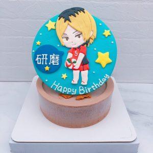 排球少年造型蛋糕推薦,Q版孤爪研磨生日蛋糕宅配