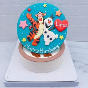 跳跳虎生日蛋糕推薦,雪寶造型蛋糕宅配分享
