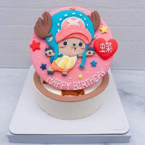 海賊王生日蛋糕推薦,喬巴客製化造型蛋糕宅配