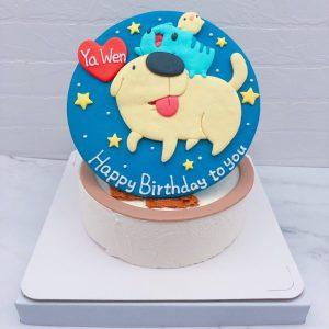 咖波造型蛋糕作品分享,狗狗生日蛋糕宅配分享