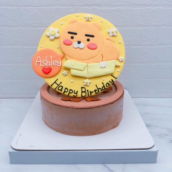 Ryan生日蛋糕手作推薦,萊恩坐在箱子裡造型蛋糕宅配
