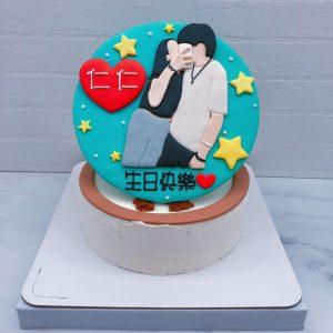 Q版人像生日蛋糕推薦,情侶照片造型蛋糕作品分享