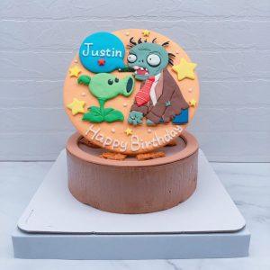 植物大戰殭屍造型蛋糕推薦,客製化生日蛋糕宅配